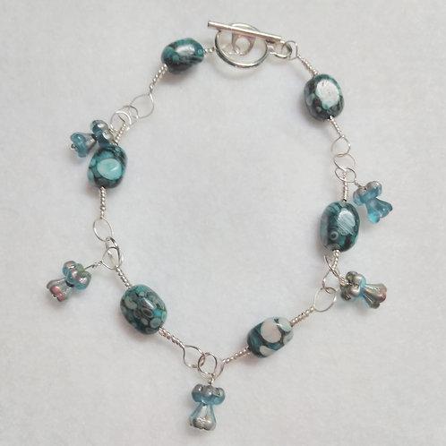 Bracelet | Blue Stone | Set | Jewelry