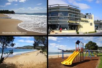 Blackmans Bay Beach,Childrens Playground, Beach Restaraunt