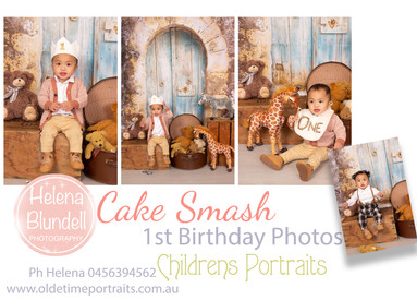 Childrens Portraits 1st Birthday