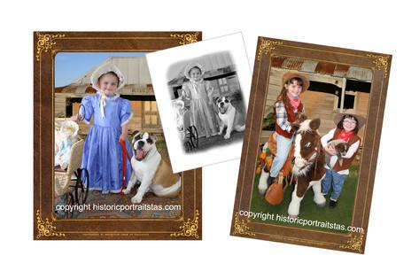 Old Time Portrait Style, Historic Portrait Tas, Animal Portraits