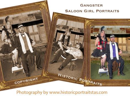 Gangster Saloon Girls Portraits