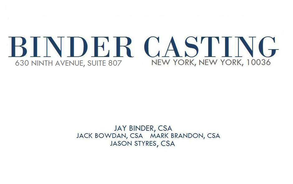 Jay Binder, Casting Director