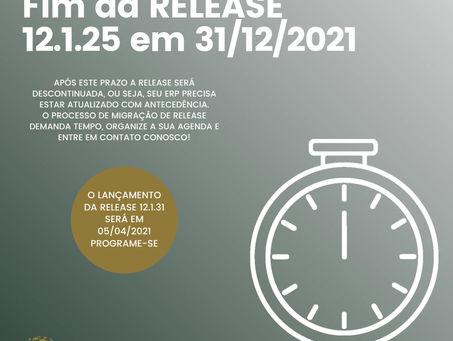 Importante: Fim da release 12.1.25