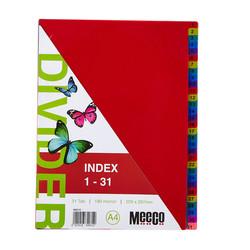Executive Plastic Index 1-31 Tab