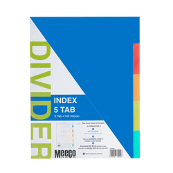Plastic Index 5 Tab Plain