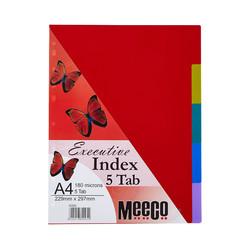 Executive Plastic Index 5 Tab Plain