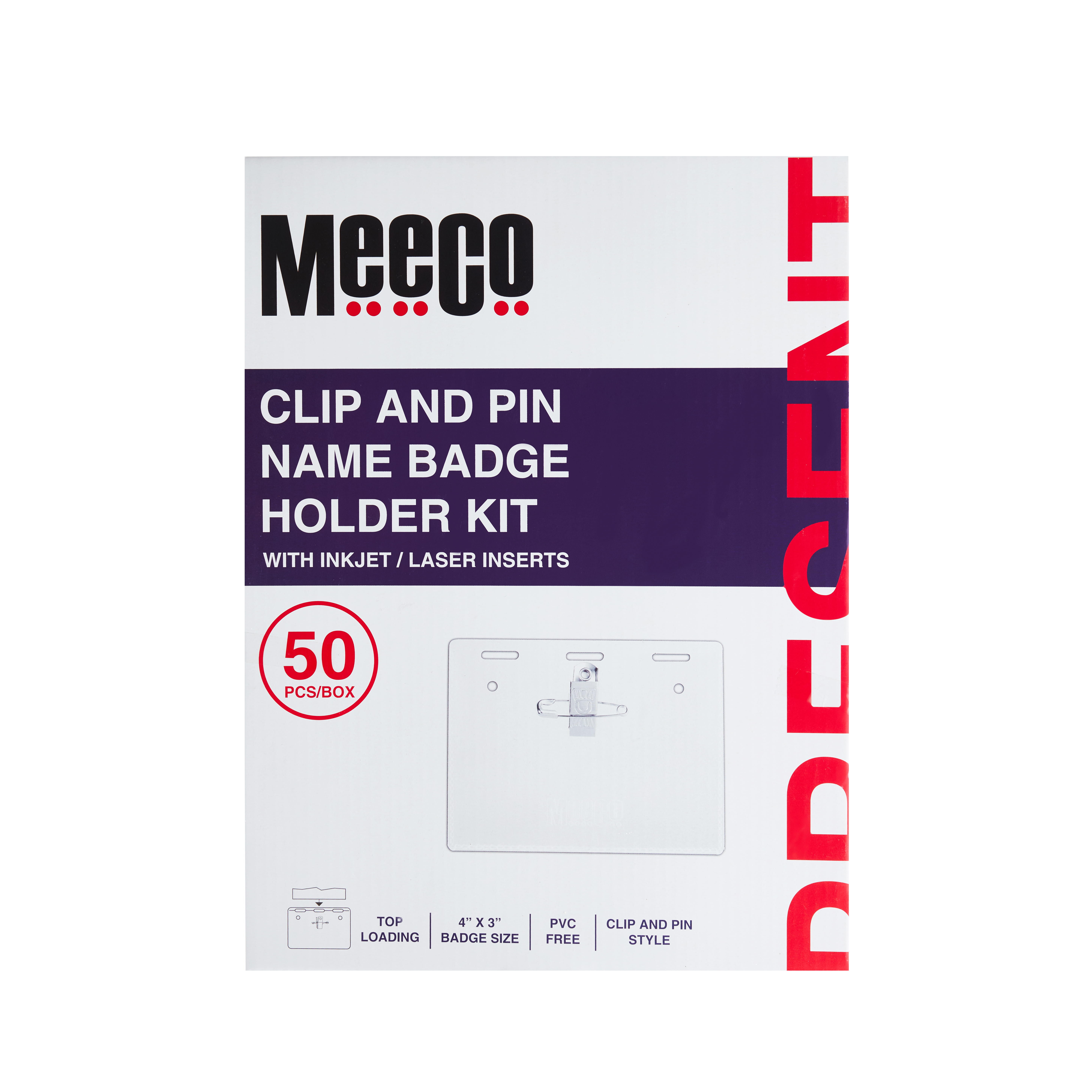 Clip & Pin Name Badge Holder Kit