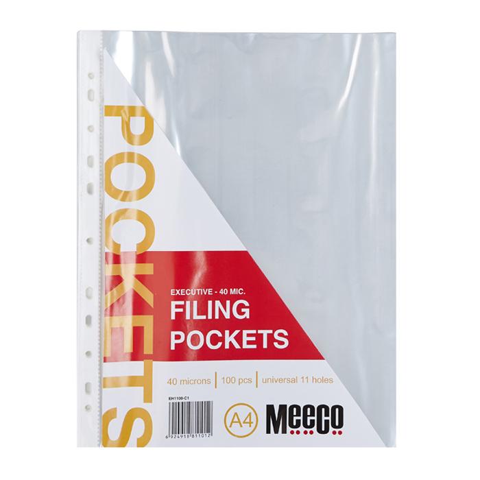 Filing Pockets - 40 Micron (100Pcs)