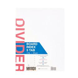 Board Index 5 Tab Plain
