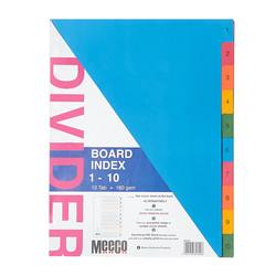 Board Index 1-10 Tab Printed