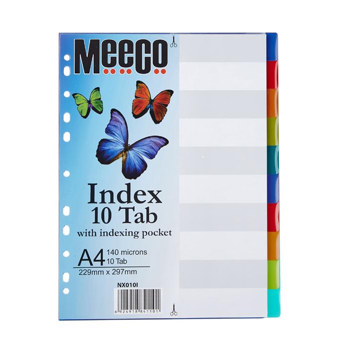 Plastic Index 10 Tab Insert