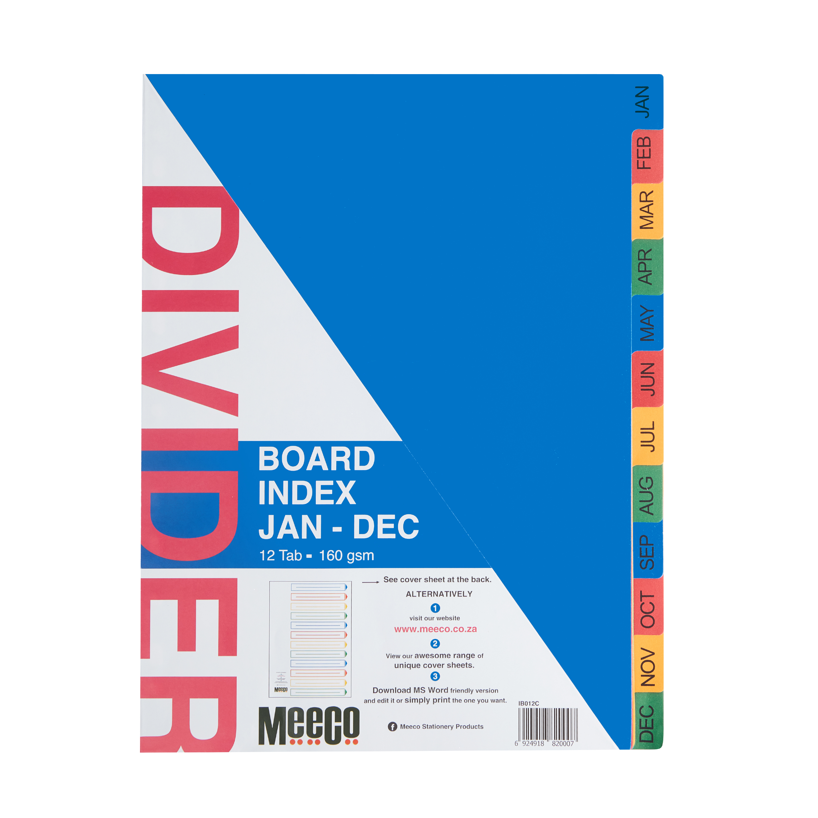Board Index Jan-Dec Printed