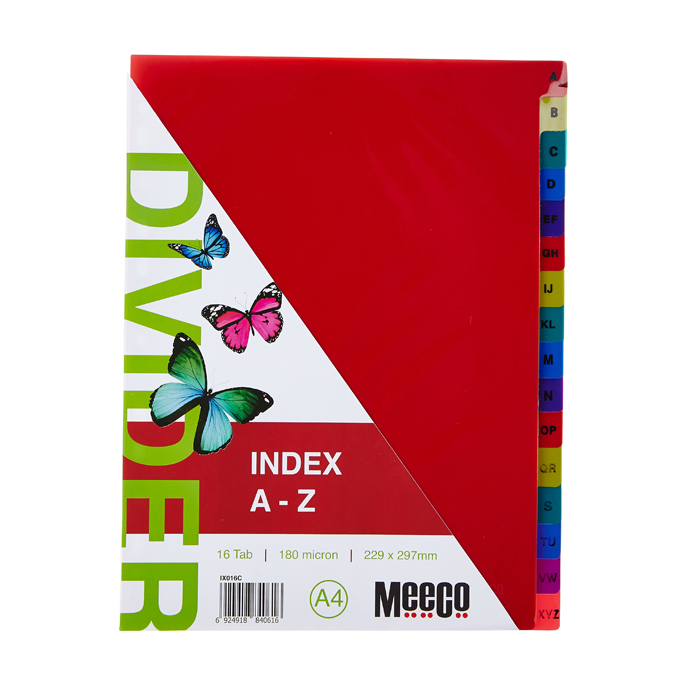 Executive Plastic Index A-Z Tab