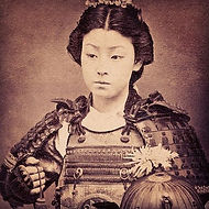 A former female warrior belonging to the Japanese nobility