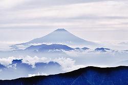 Der mythische mount fuji, japan