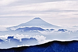 landscape with fuji mountain in japan