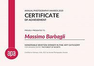annualphotoawards_certifcate_Massimo_Bar