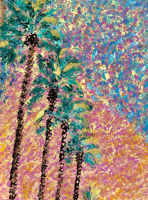 Desert Palms (Abstract)