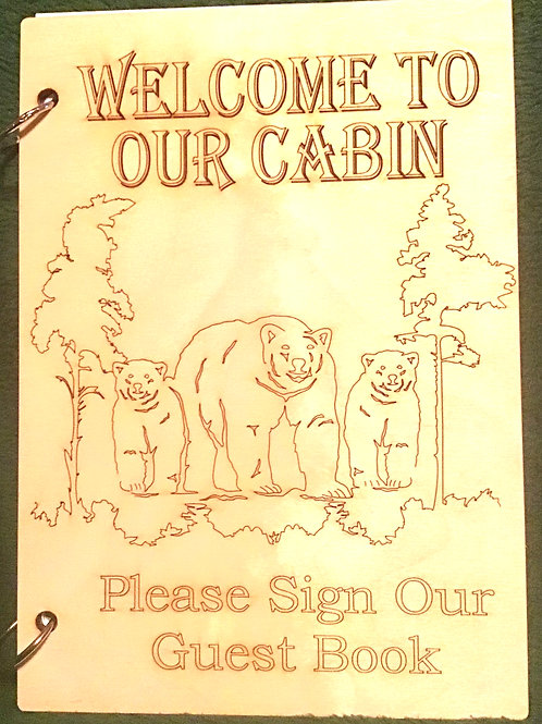 Welcome To Our Cabin 3 Bears Guest Book