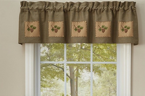 Pine View Lined Patch Valance