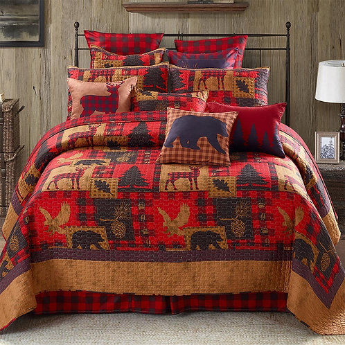 Life Is Better In The Woods King Quilt Set
