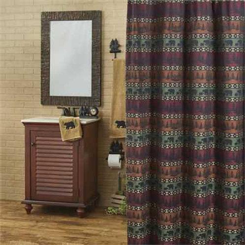 """Mountain Bear Shower Curtain 72' X 72"""""""
