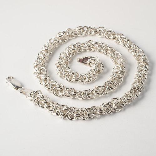 Byzantine Necklace 6mm - Hallmarked