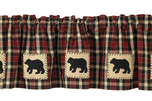 Concord Bear Lined Applique Valance