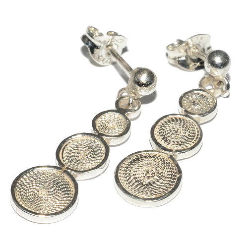 Triple Disc Earrings