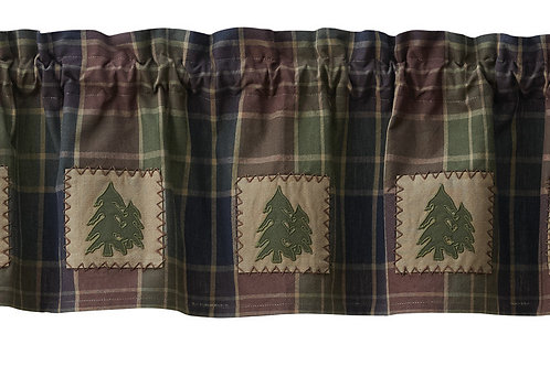 Frontier Plaid Lined Patch Valance