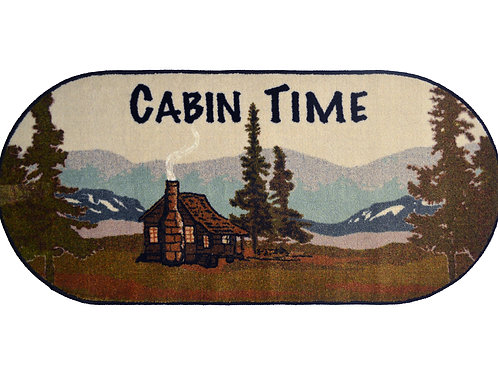 Cabin Time 20″x 44″ Oval