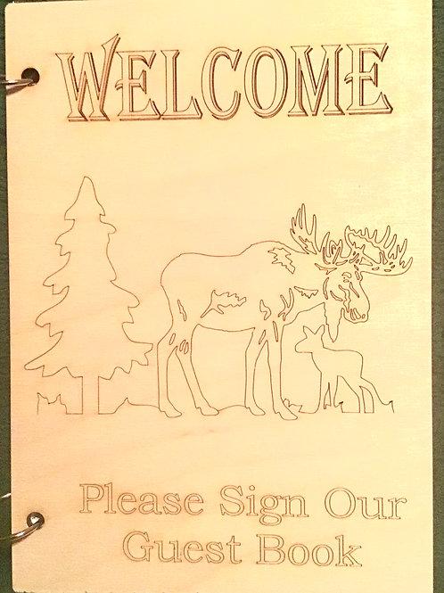 Welcome Moose Guest Book