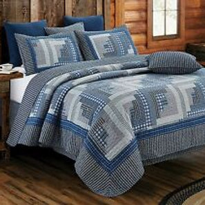 Montana Cabin Blue QUEEN SET