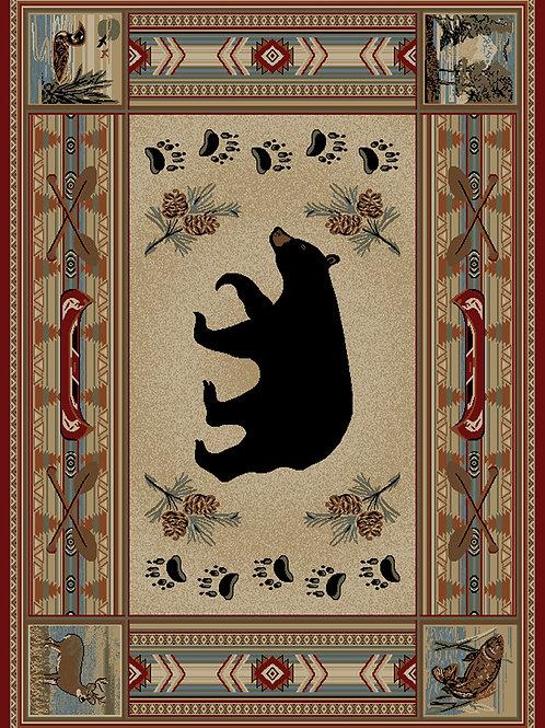 "Woodlands Bear 5'3""x7'3"""