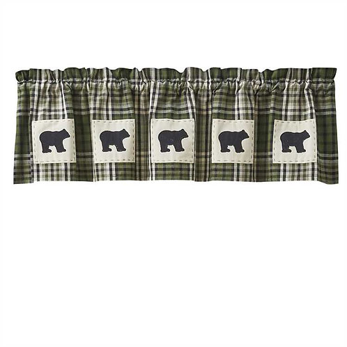 Juniper Bear Patch Lined Valance
