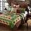 Thumbnail: Primitive Rustic Moose Wilderness Lodge Quilt and Sham Set 3 Piece (Green/Brown,