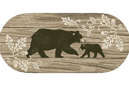 Foliage Bear 20″x44″ Oval