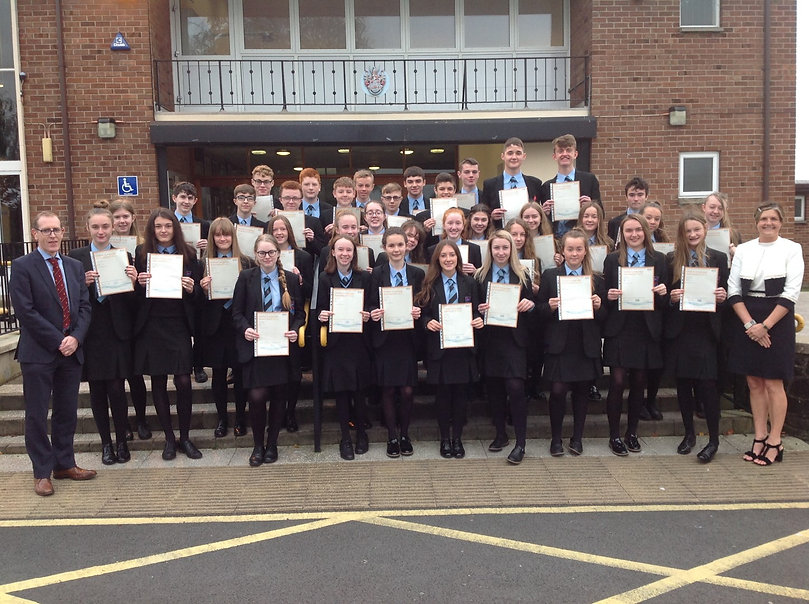 Year 11s presented with CCEA Entry level
