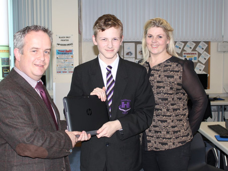 Aidan Nesbitt Receives Competition Prize