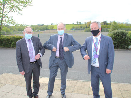 Education Minister Peter Weir Visits Tandragee Junior High, 19th May 2021