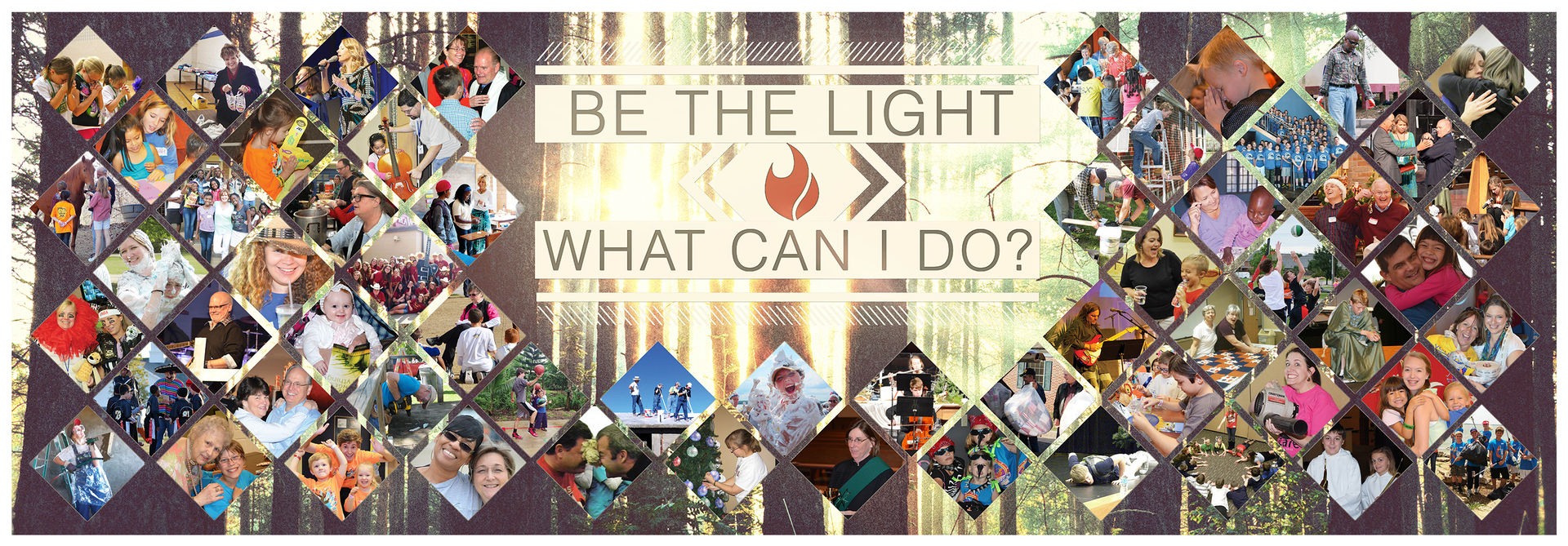 Be the Light Hallway Banner