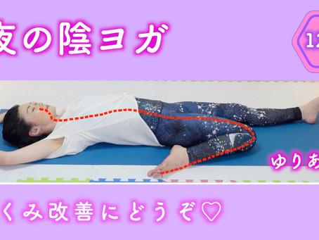 『レッスン動画 ♯15』夜の陰ヨガ〜胃経サドルポーズ〜
