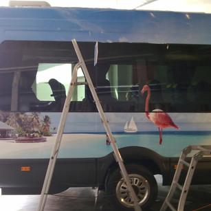 Vollverklebung Kleinbus