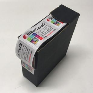 Aufkleber - Spenderbox