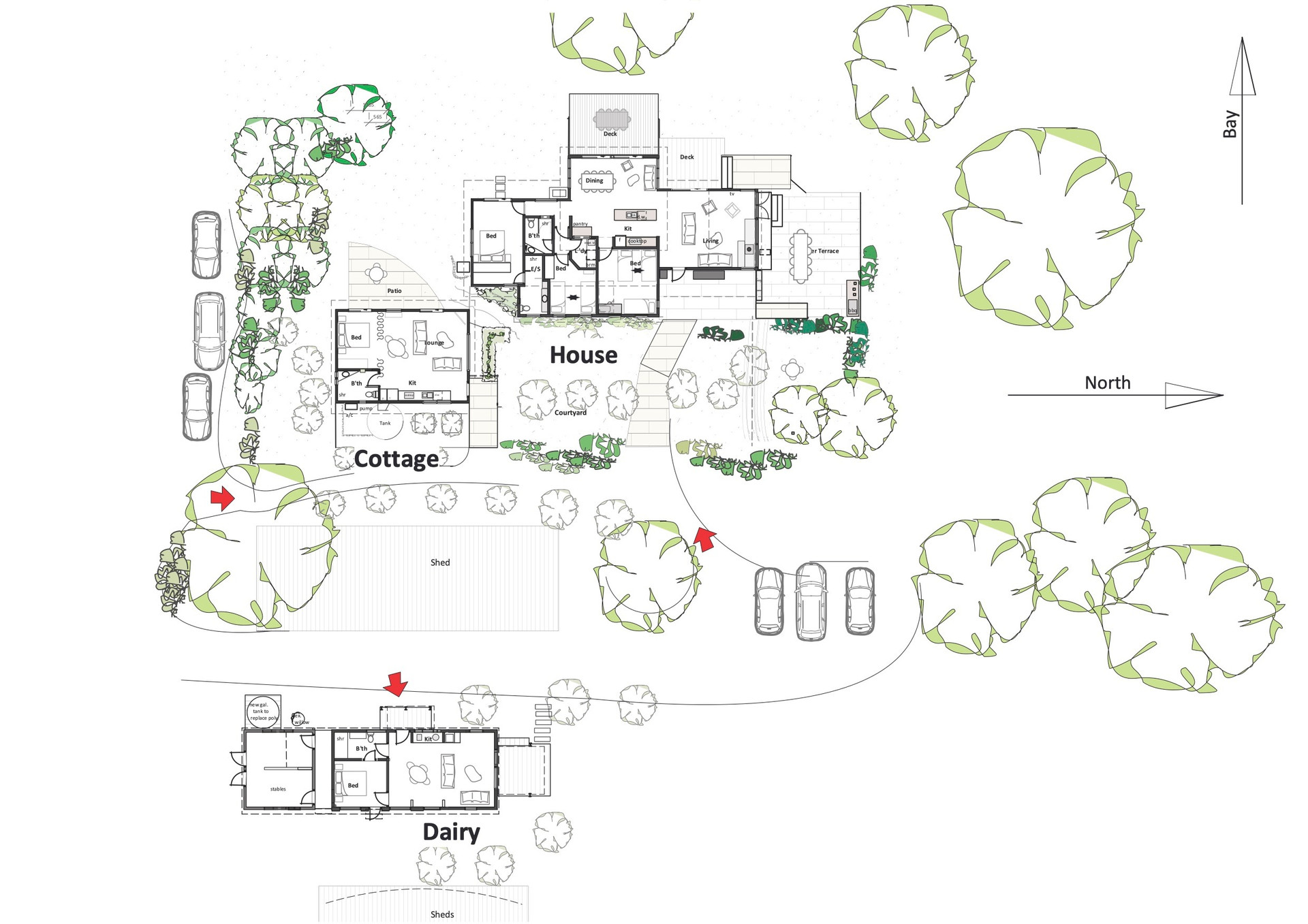 Floorplan Red Hill Ridge accommodation