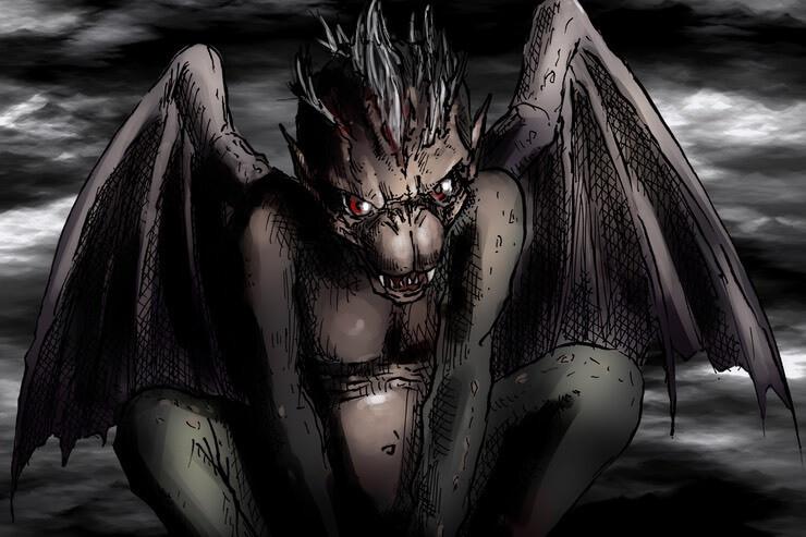 Fantasy-Monster Naffar (Teufelsaffe)