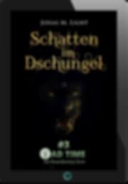 E-Book Cover Fantasyroman Tad Time #3: Schatten im Dschungel