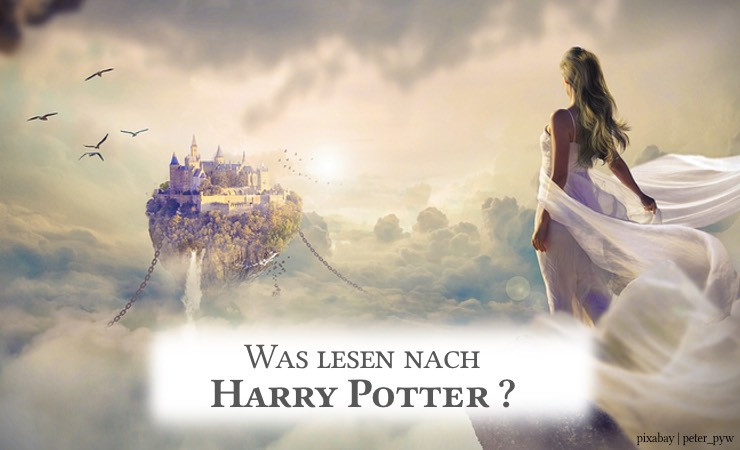 """Harry Potter Cover und Schriftzug """"Und dann?"""""""