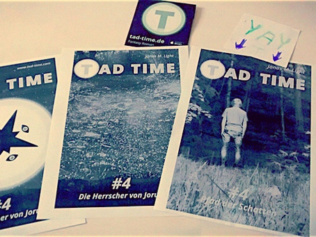 Zack & fertig: das Cover für Tad Time #4