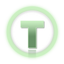 Tad Time Logo: Fantasyserie Tad Time. Grünes Superhelden-Logo